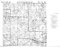 Evergreen Township, Washburn County 1952